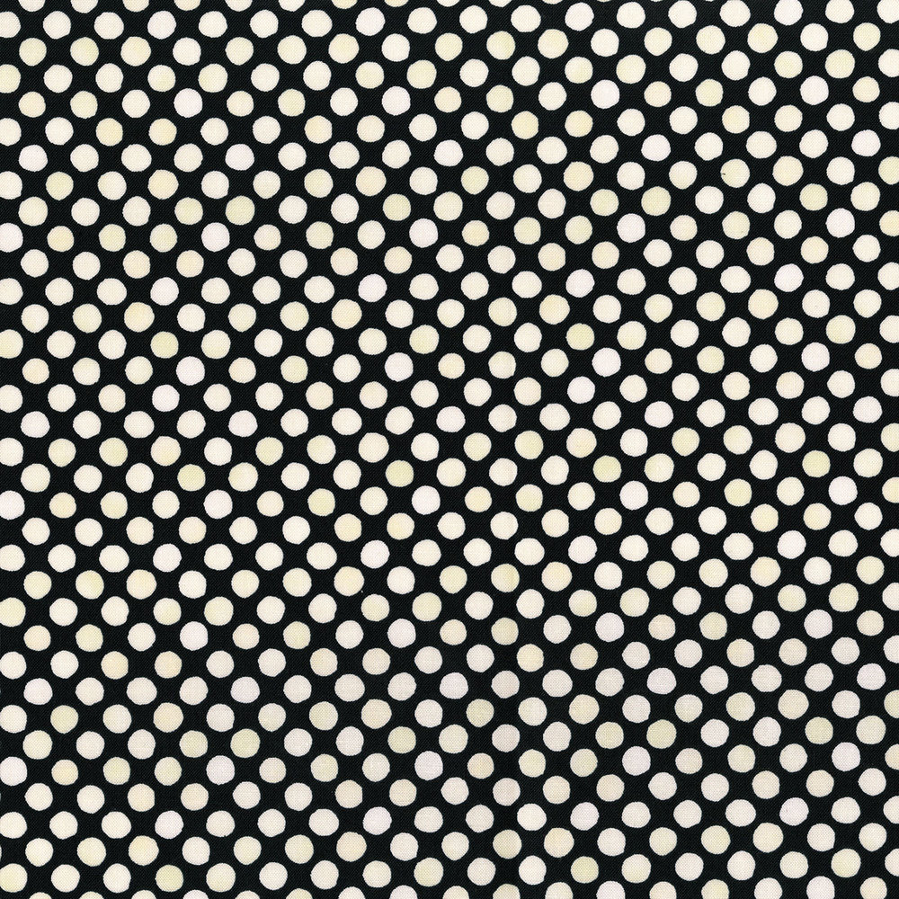 3249-007  GARDEN DOTS-CREAM BLACK