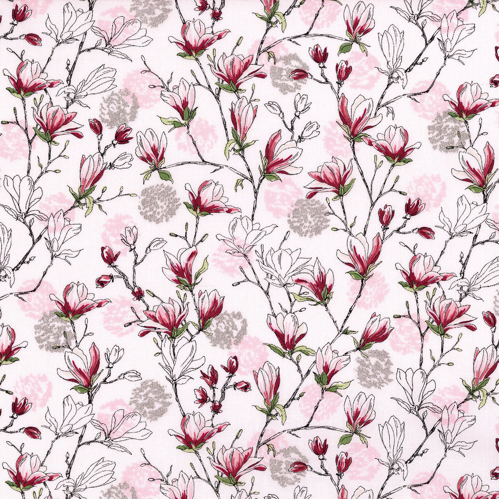 3252-002  BUDDING BLOSSOMS-PEARL PINK