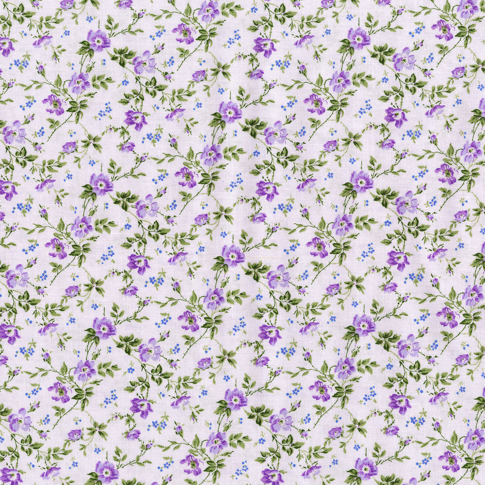 3268-001  DAINTY BLOOMS-LAVENDER