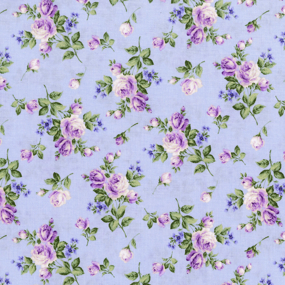 3266-001  HEIRLOOM FLORAL-LAVENDER