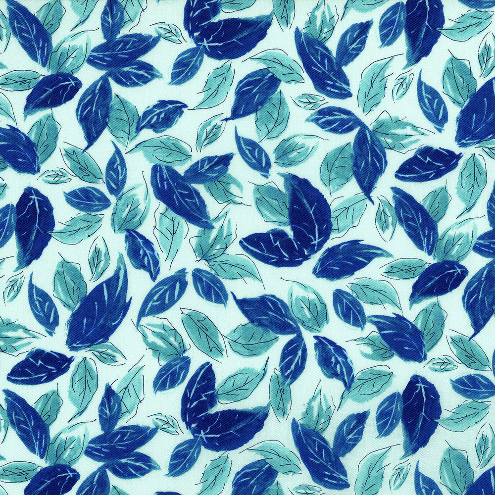 3278-002  LEAFY BLUES-AQUASTONE