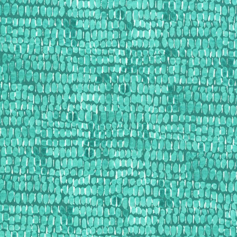3280-002 GLOSSY DOT-AQUA STONE