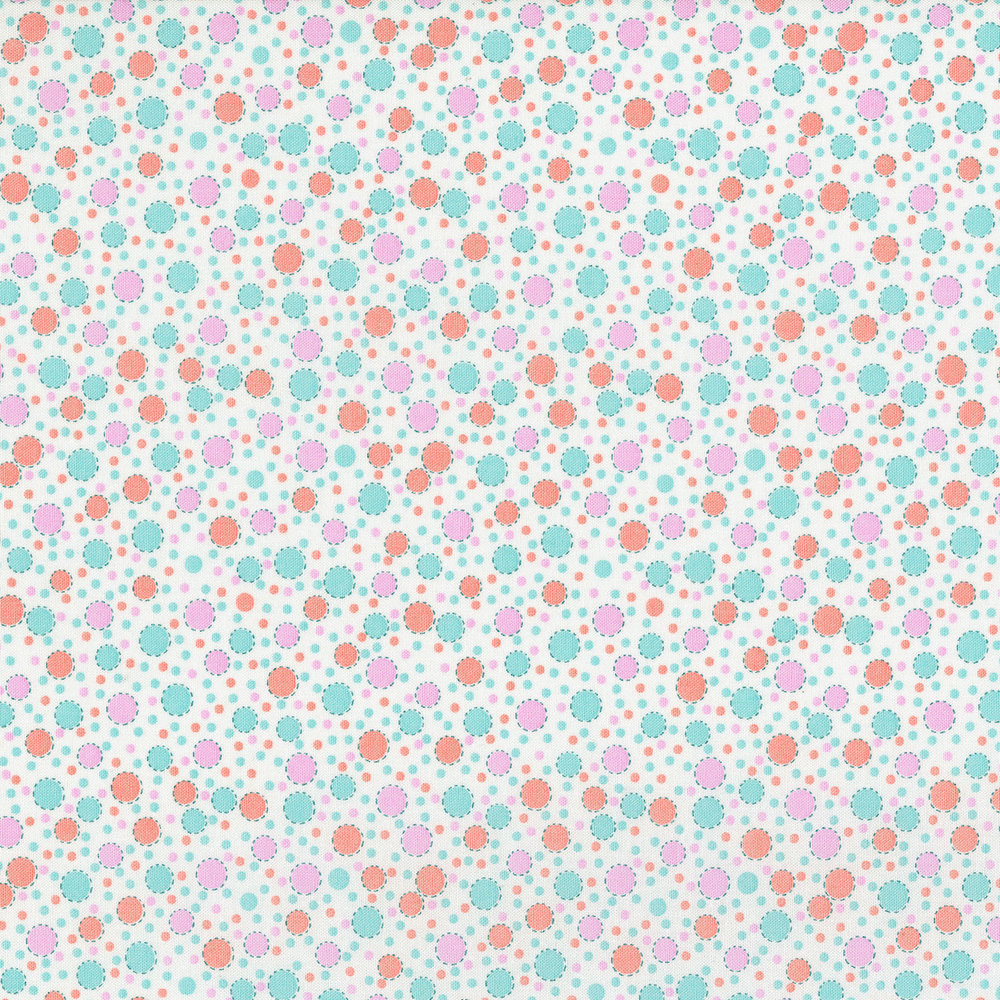 3310-002  CIRCUS DOTS-ORANGE CREAM