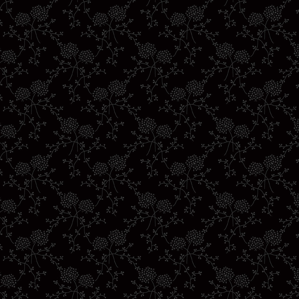 3322-003  STARRY BLOOMS-BLACK TIE