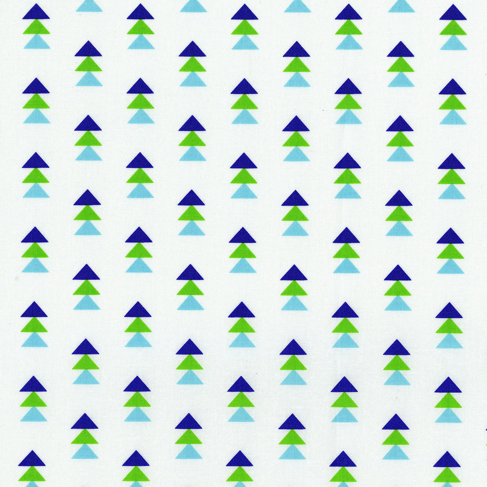 3331-003  STACK TRIANGLES-BLUE