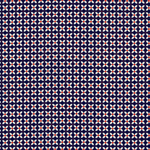 3045-002  WEE FLOWERS NAVY