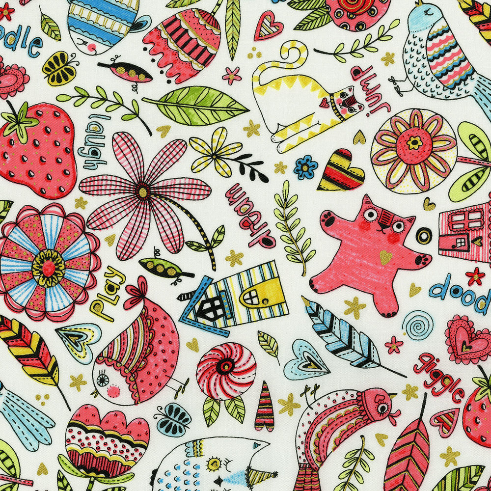 3377-001  DOODLE PLAY-MIXED