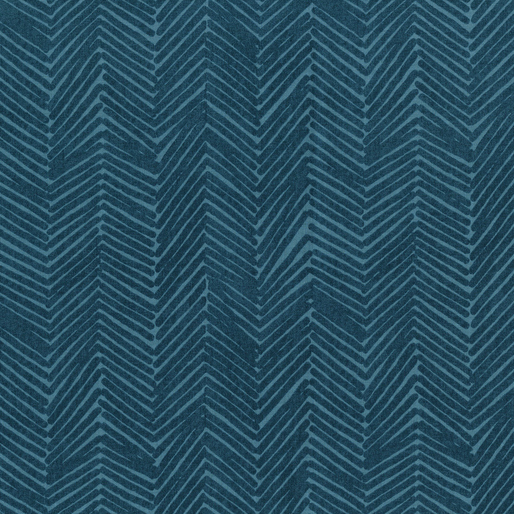 3347-001  ZIG ZAGGLE-FADED DENIM