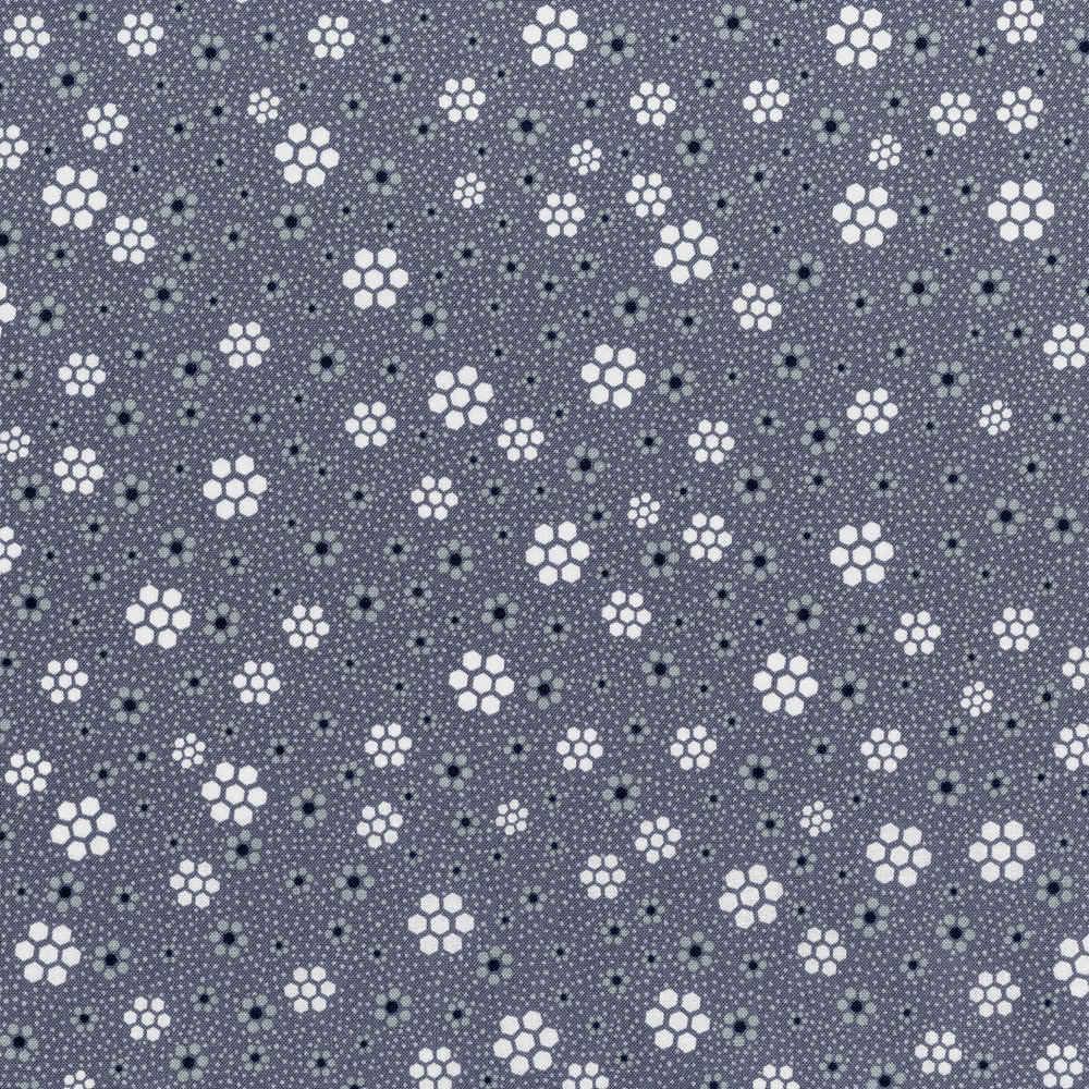 3326-003  HEXAGON MEADOW-GRAPHITE