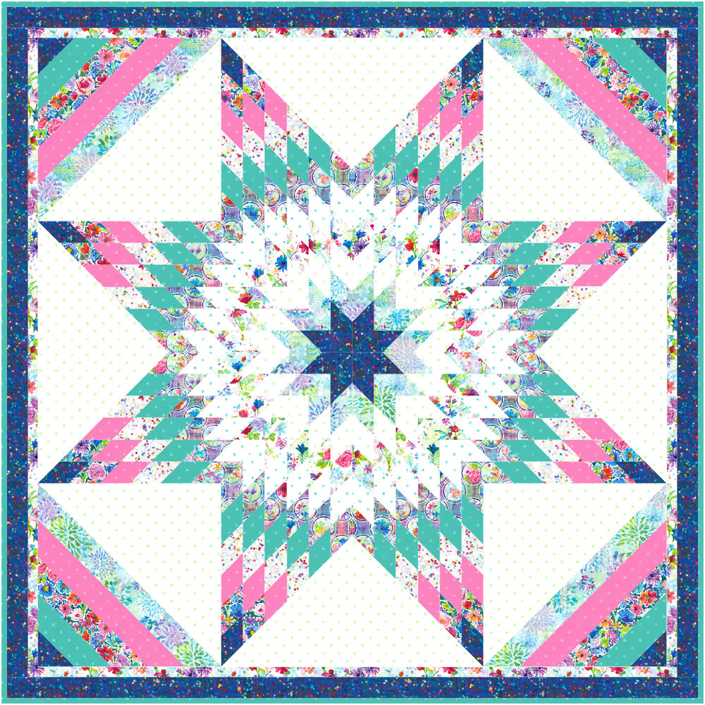 """Paper Star"" Free Pattern designed by Flaurie & Finch from RJR Fabrics"