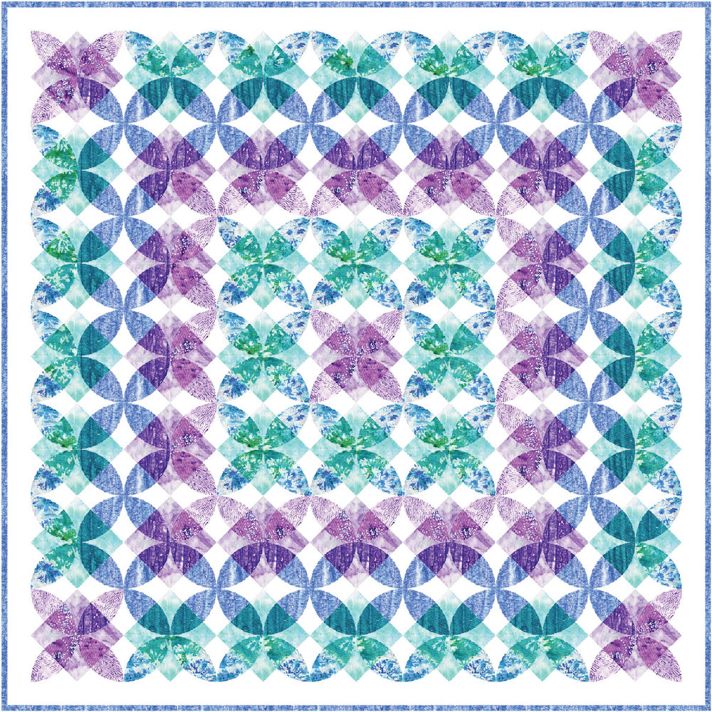"""Cascades"" Free Pattern designed by Flaurie & Finch from RJR Fabrics"