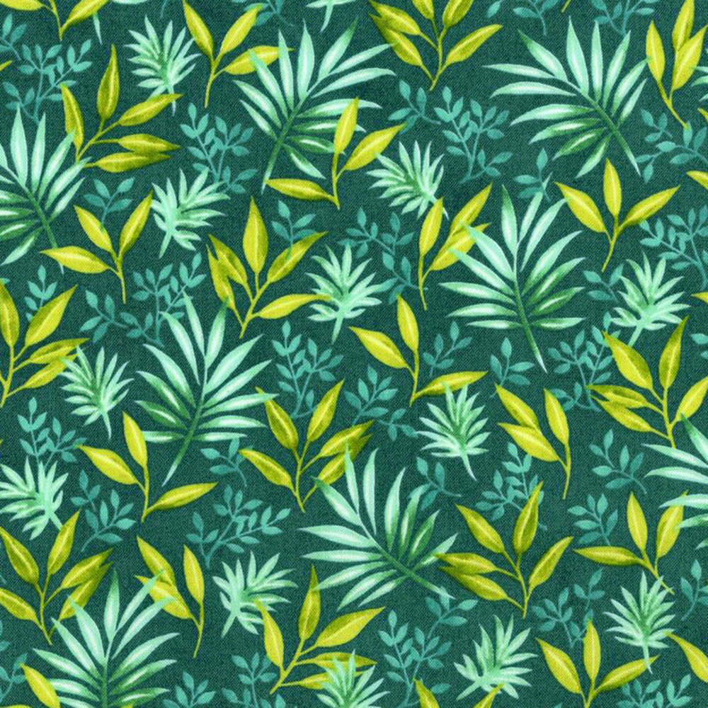 3410-001  FRONDS FOREVER-LAGOON