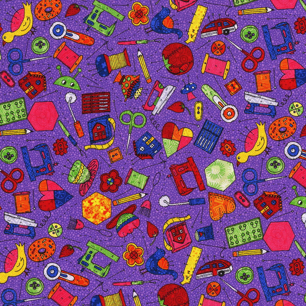3423-002  SEW FUN-PURPLE PASSION