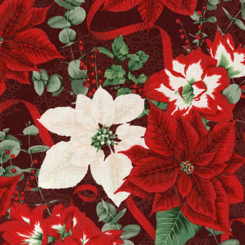 3483-001  HOLIDAY BOUQUET-RADIANT CRIMSON