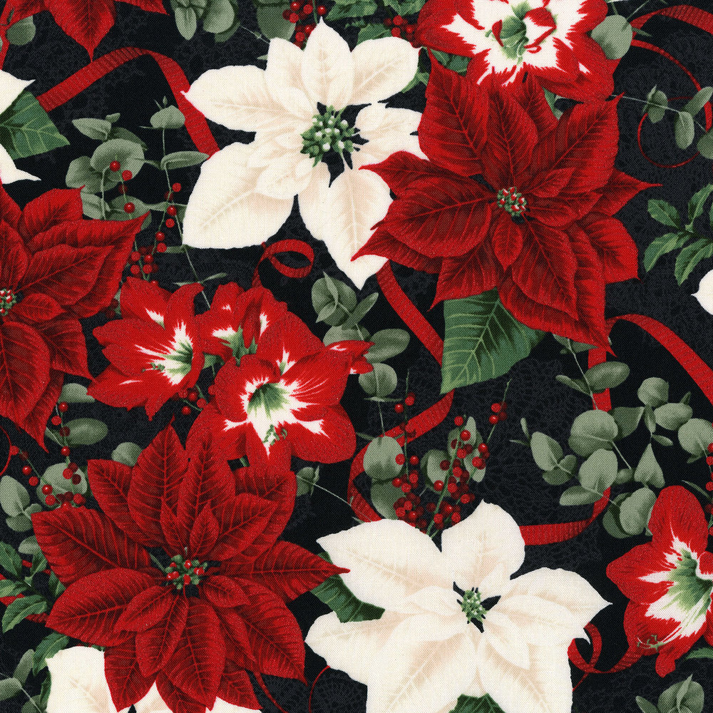 3483-003  HOLIDAY BOUQUET-RADIANT BLACK