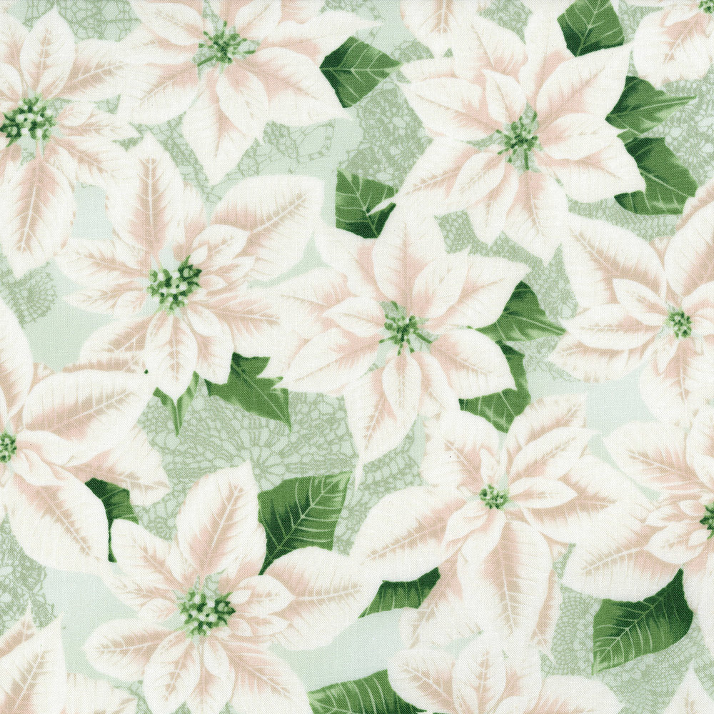 3485-001 PEARLY POINSETTIA-SILVER SAGE