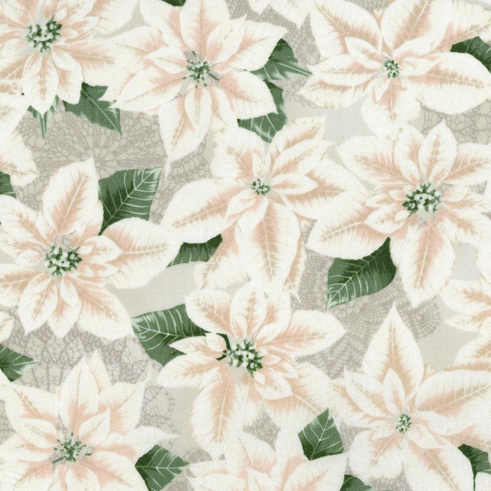 3485-002 PEARLY POINSETTIA-WINTER WHITE