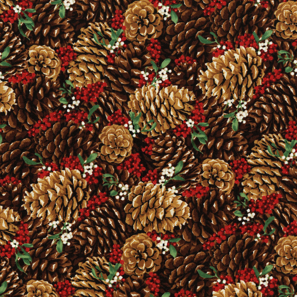 3487-001  PRETTY PINE CONES-RADIANT BERRY