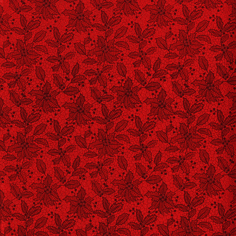 3493-001  HOLIDAY LACE-RADIANT RUBY