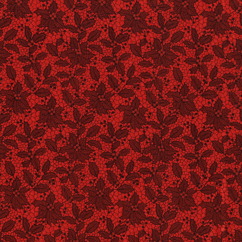 3493-002  HOLIDAY LACE-RADIANT CRIMSON