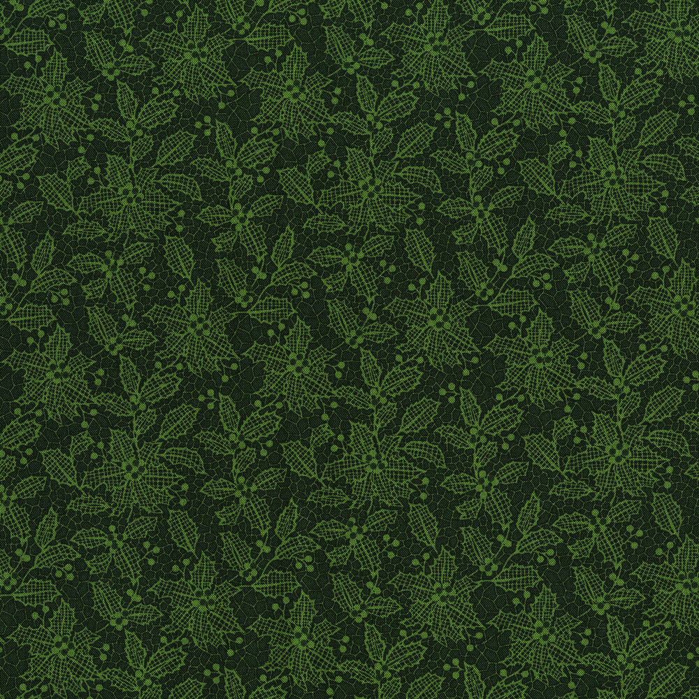 3494-001  HOLIDAY LACE-EVERGREEN