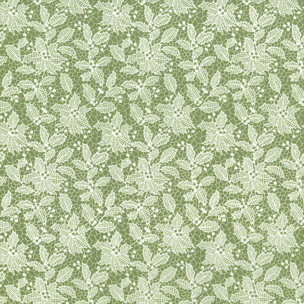 3494-002  HOLIDAY LACE-SILVER SAGE