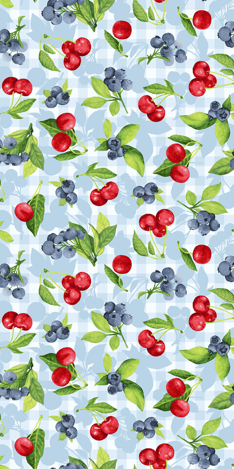 3558-001  CHERRY BERRY-BLUE SKY