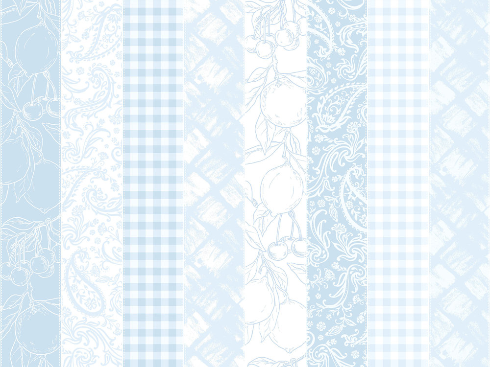 3560-001  PICNIC STRIPE-BLUE SKY