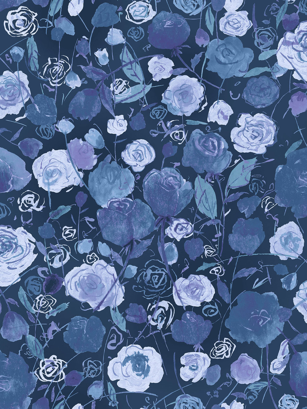 3515-003 ROSE GARDEN-IRIS