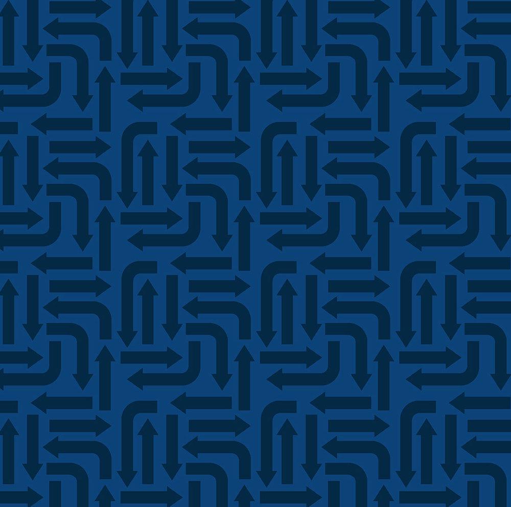 3406-001 ARROWS-BLUE