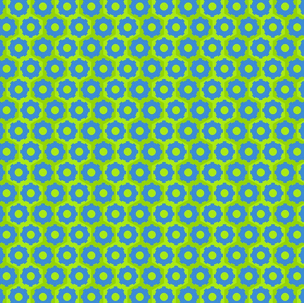 3407-001 WHEELS-BLUE & GREEN