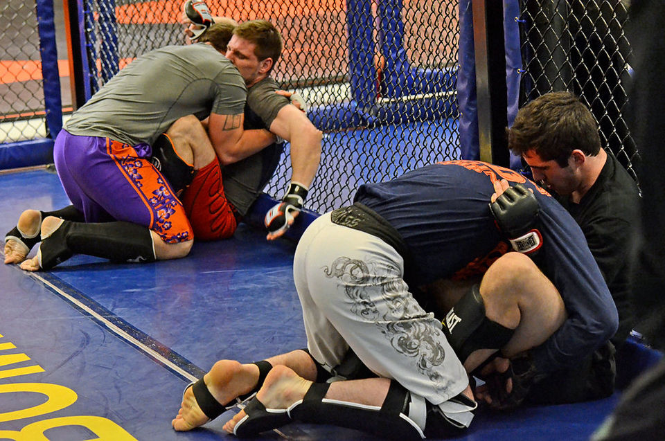 Mixed Martial Arts    -    This class is designed to bring all components of mixed martial arts together. Participants will work on striking, take downs, and submissions skills as well as ground and pound.  This class is offered in the Fall and Spring only.