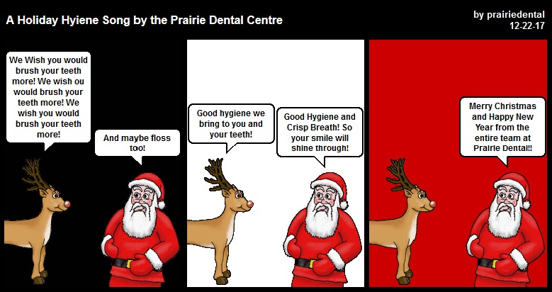 Christmas Hyiene Song comic by Leduc Dentist - Prairie Dental Centre.jpg