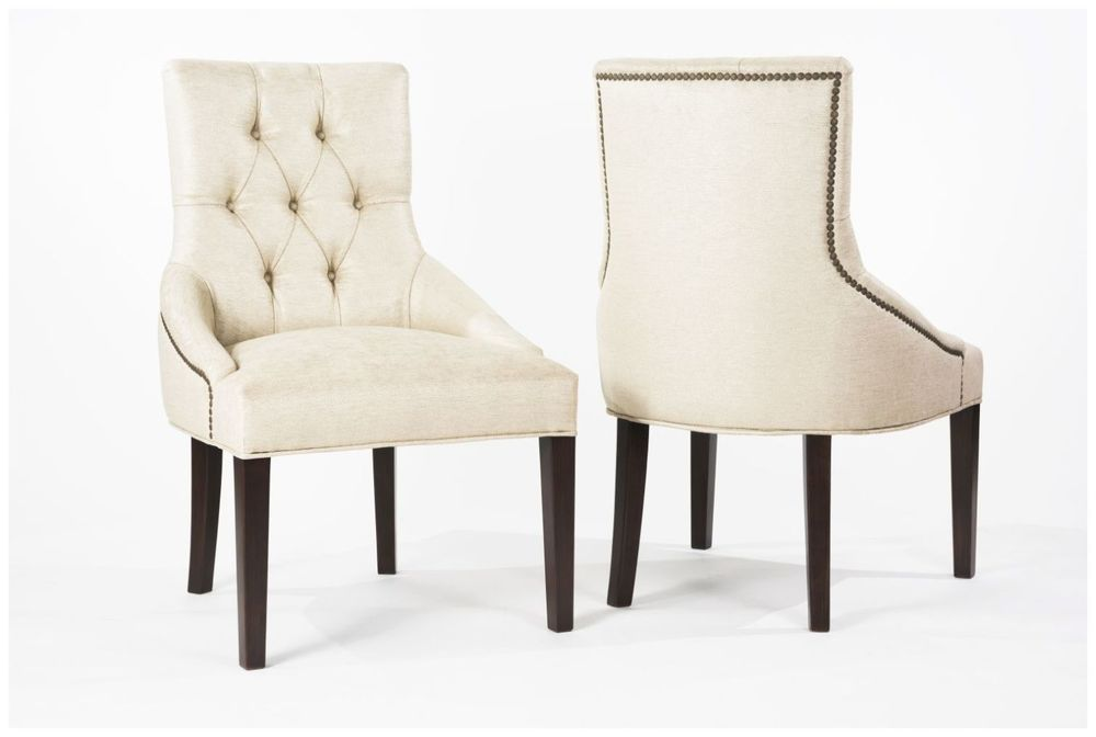 Custom Restaurant Seating with Tufted Back and Sloping Arms