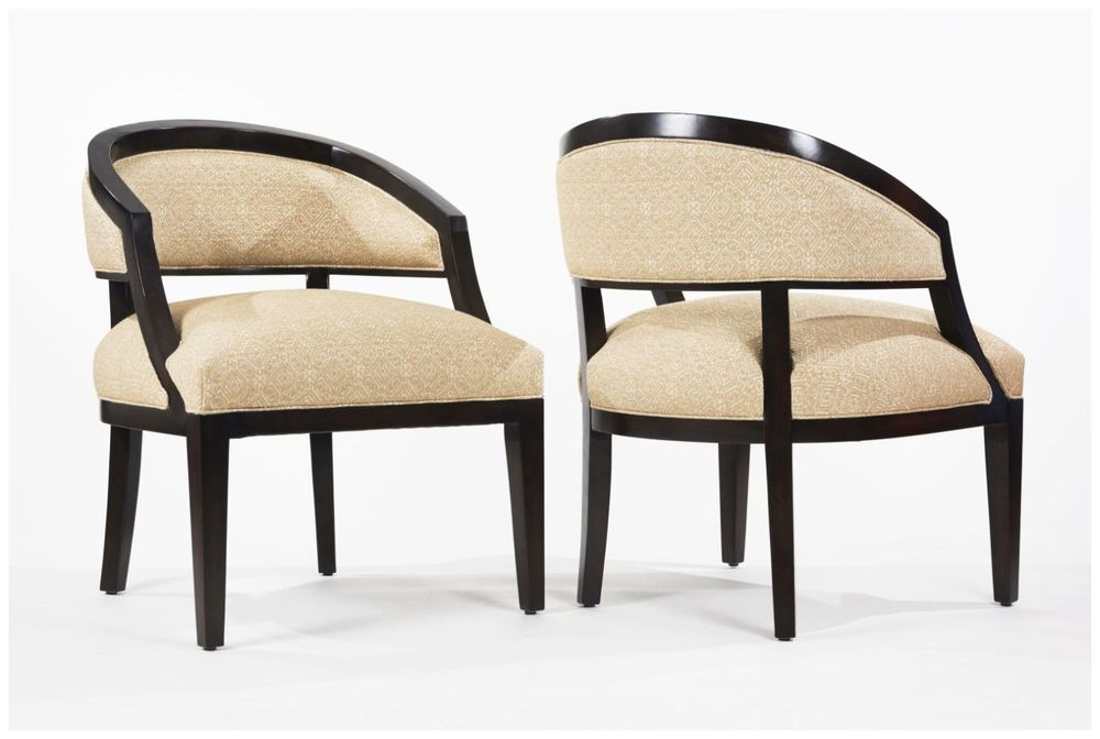 Custom Round Back Upholstered Hospitality Chairs