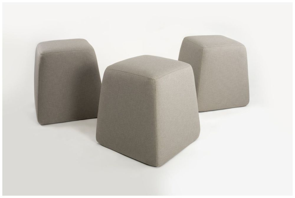 Custom Upholstered Tapered Pouf