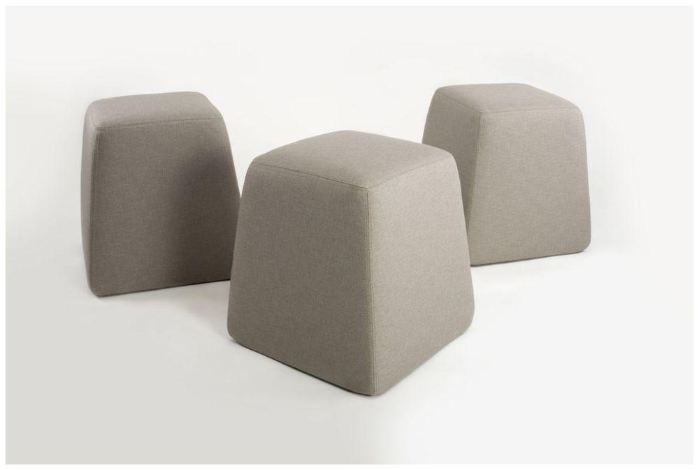 Custom Upholstered Tapered Pouf