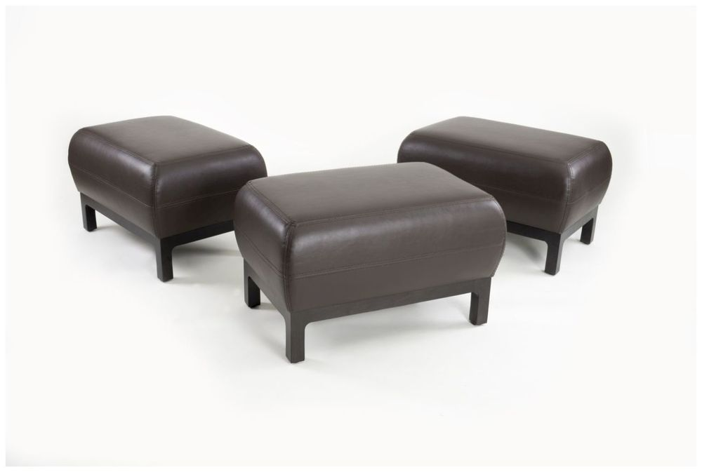 Custom Leather Ottomans for Hotel Rooms