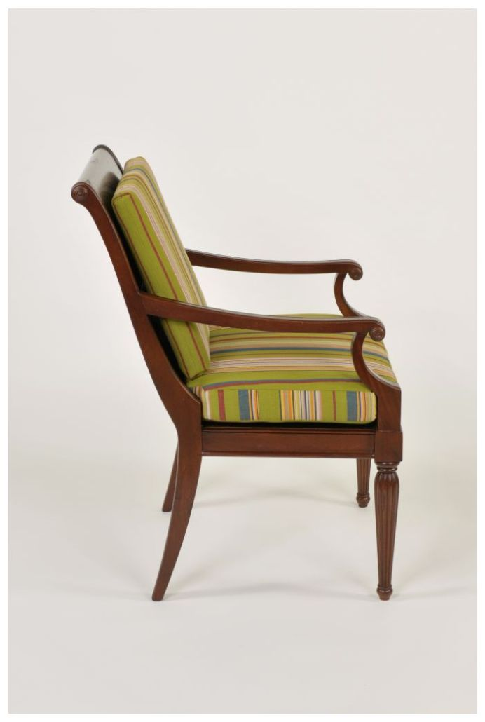 Custom Restaurant Armchair with Upholstered Cushions