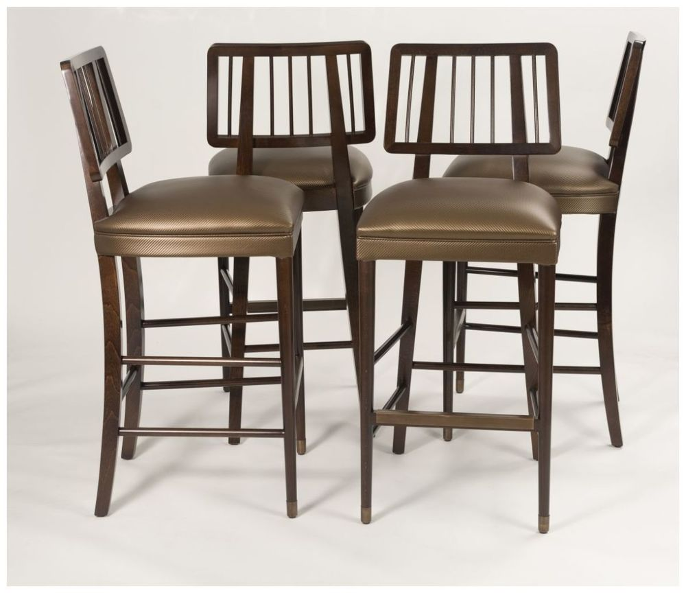 Custom Contemporary Open Back Barstools