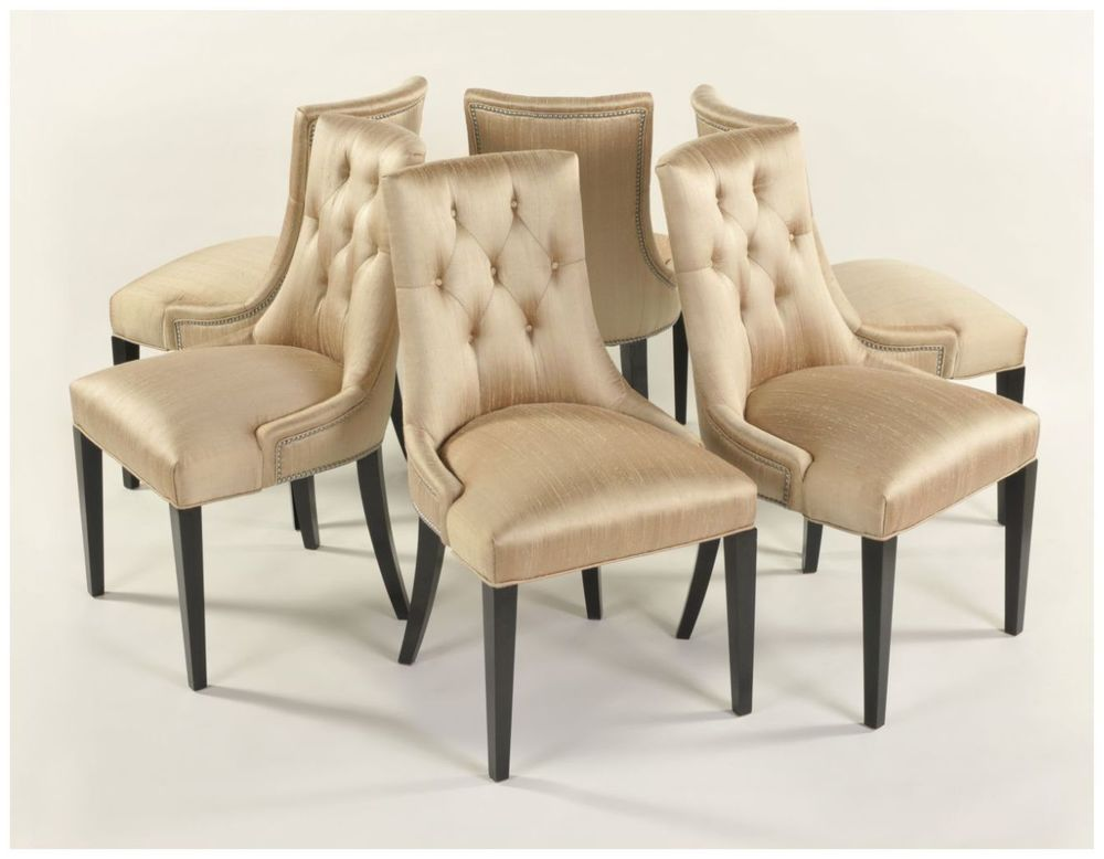 Custom Swoop Chair with Button Tufted Backs