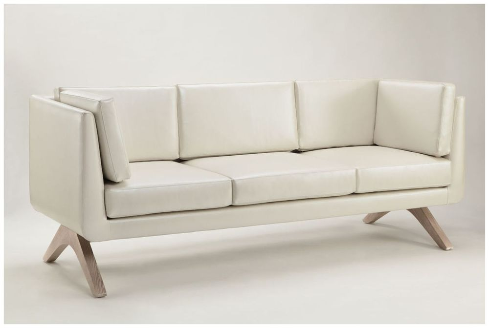 Custom Contemporary White Hotel Sofa