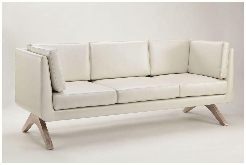Custom Contemporary White Hotel Sofa