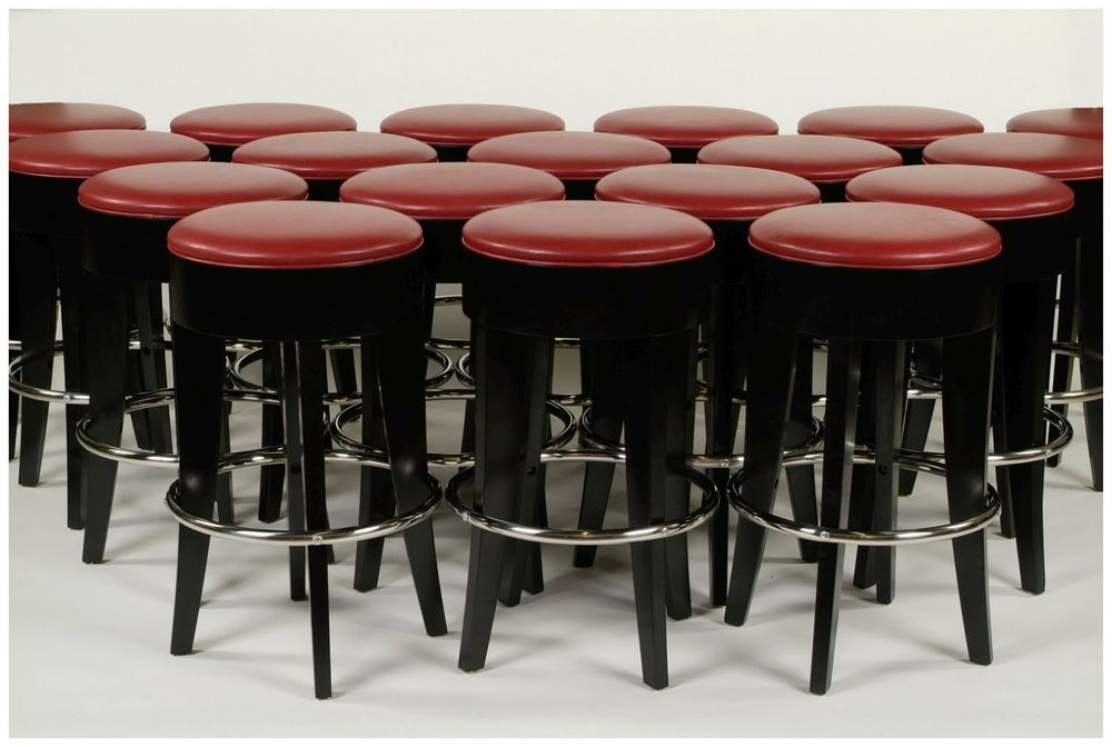Custom Leather Restaurant Barstools