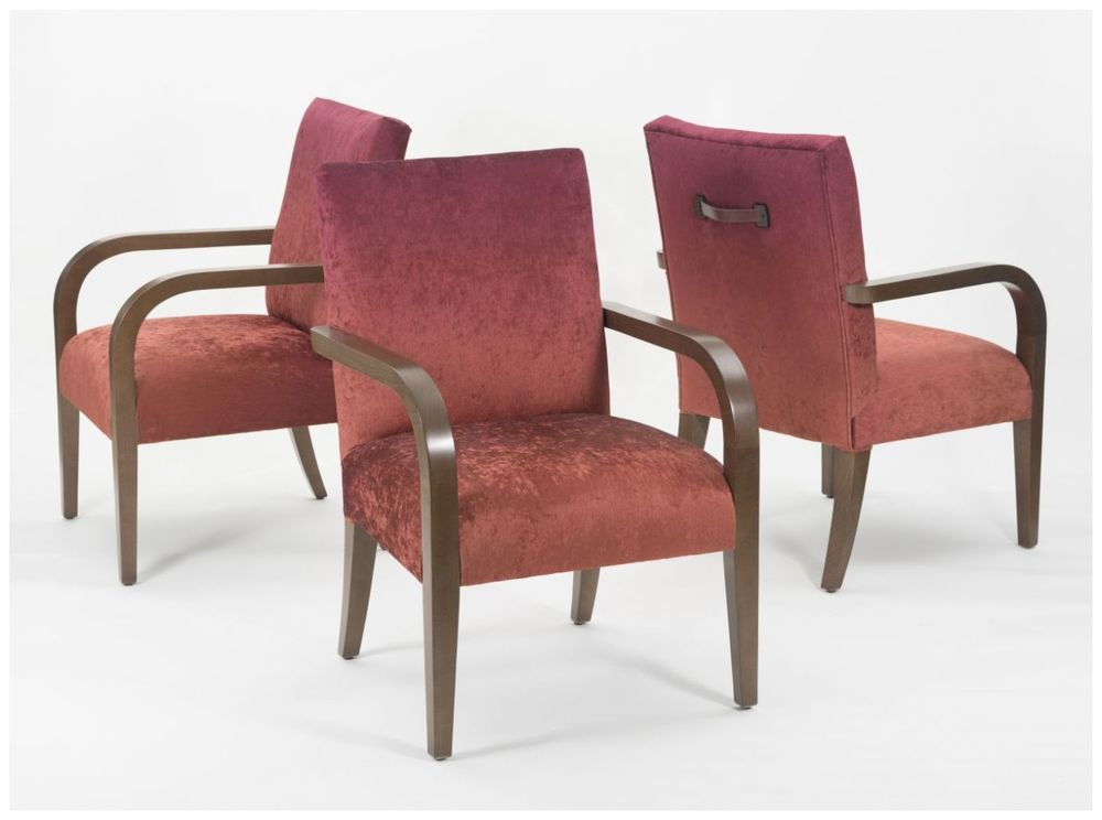 Custom Casino Armchairs with Leather Handles