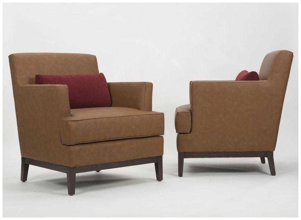 Custom Upholstered Hotel Armchairs