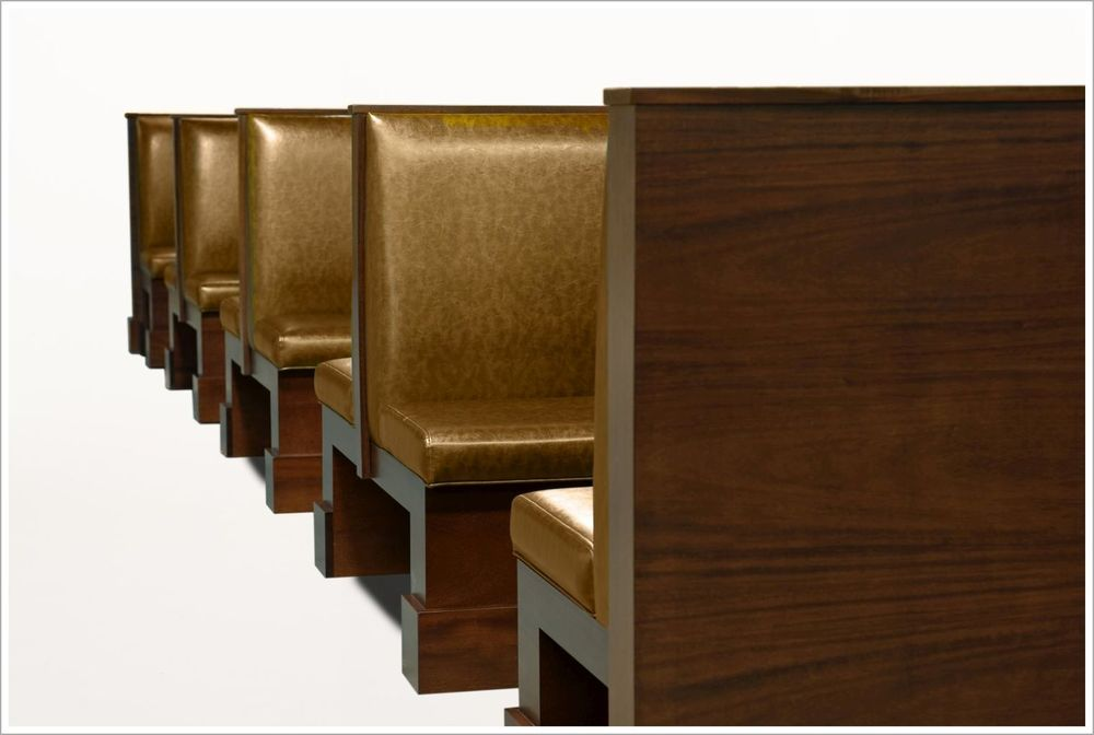 Custom Restaurant Booth Seating with Woods Frame
