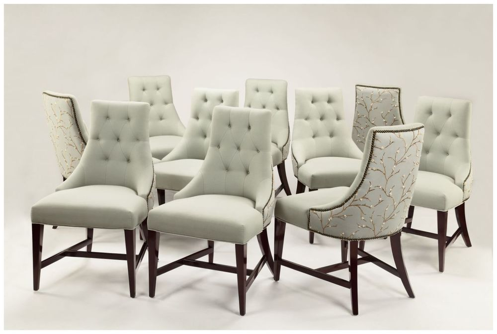 Custom Hospitality Chairs with Nail Head Trip and Swoop Arms