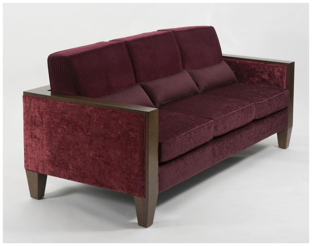Custom Hotel Lounge Sofa with Wood Frame