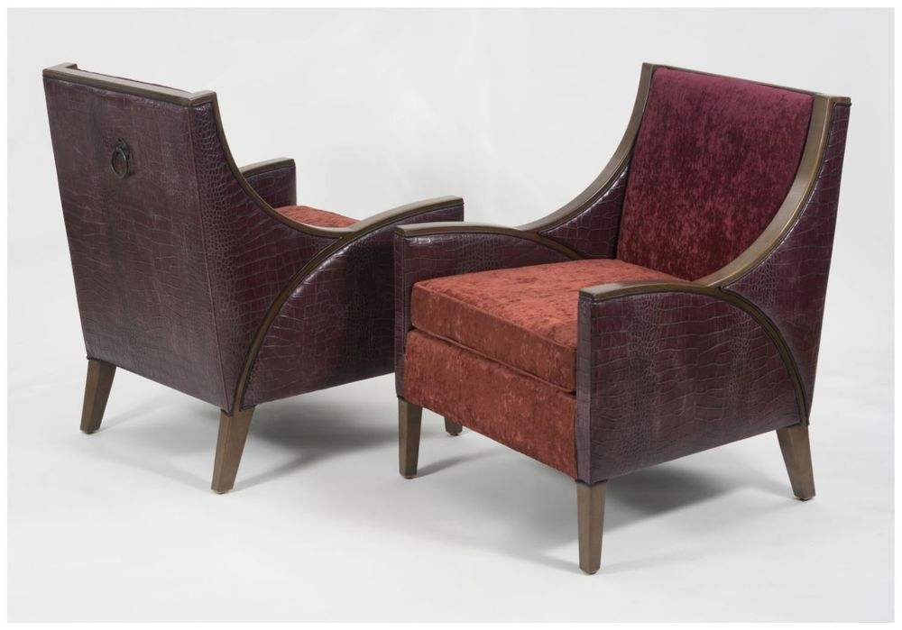 Custom Hospitality Chairs with Sloping Arms and Back Ring Pull